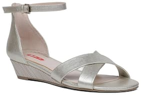 Bata Women Silver Heeled Sandals