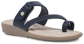 Bata Women Blue One Toe Flats