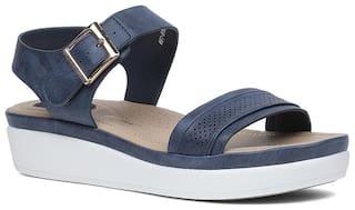 Bata Women Blue Heeled Sandals