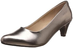 Bata Women Grey Pumps