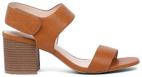Bata Women Tan Heeled Sandals