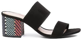 Bata Women Black Peep toes