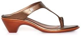 Bata Women Beige Peep toes