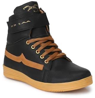 BB LAA Trandyy Black High-Ankle Poupular Men's Sneakers Shoes