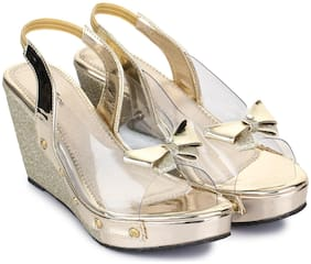 Shezone Women Gold Pumps