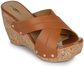 Shezone Women Tan Wedges -