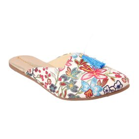 Gerief Printed Skyblue Mules