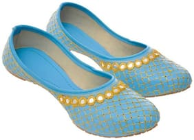 Women Embroidered Bellies ( Blue )