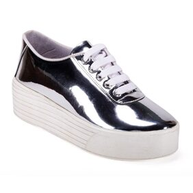 Bella Toes Women's Synthetic Leather Silver Colour Shoes