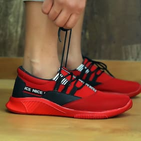 Belle Femme Men Red Casual Shoes