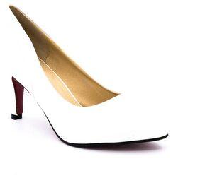 Belle Gambe White Heels (Size-6)