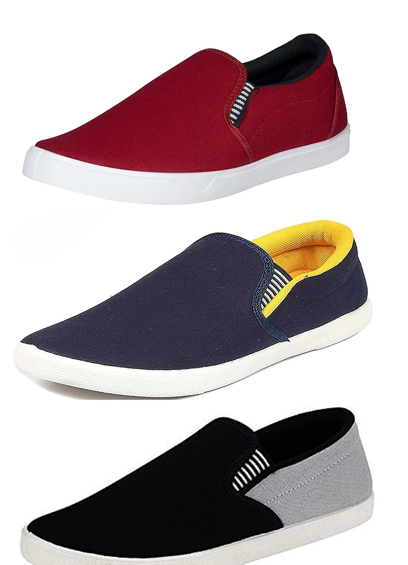 32e690b3a32 Buy BERLOC Men Multi-color Casual Shoes Online at Low Prices in ...