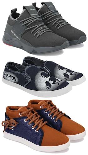 BERSACHE Men Multi-Color Casual Shoes - COMBO(MR)-1657-690-678