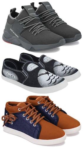 BERSACHE Men Multi-Color Casual Shoes - COMBO(MR)-1657-691-678