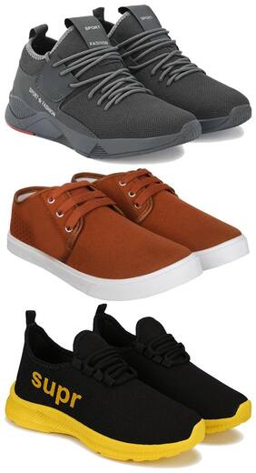 BERSACHE Men Multi-Color Casual Shoes - COMBO(MR)-1657-1138-1647