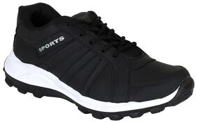 BERSACHE Men Black Running Shoes - Ori-black-677