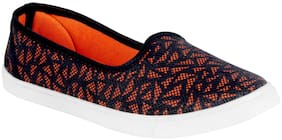 Bersache Women Orange-762 Casual Loafers