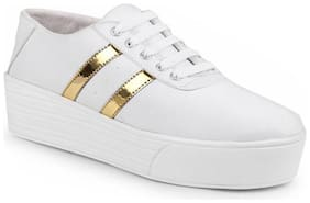BERSACHE Women White Sneakers