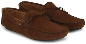 Big Fox Casual Kiltie Tassled Loafers For Men  (Brown)