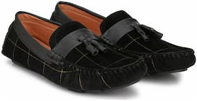 Big Fox Men's Driving Suede Check Loafers