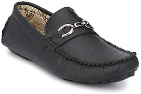 BIG FOX MEN'S BLACK CASUAL LOAFERS SHOE