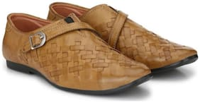 Big Fox Roman Sandal Monk Strap For Men  (Beige)