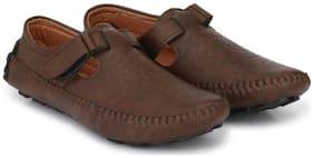 Big Fox Roman Sandal Monk Strap For Men  (Brown)