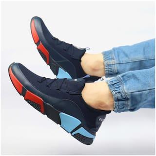 Biggie Men Fashion Sports Running Shoes ( Navy Blue )