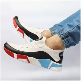 Biggie Men Fashion Sports Running Shoes ( White )