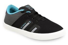 Birde Black & Grey Canvas Casual Shoes For Men
