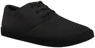 Birde Black Canvas Casual Shoes For Men