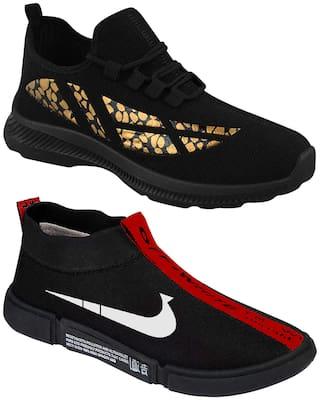 Birde Men Black Casual Shoes - BRD-436-BL-01-RED