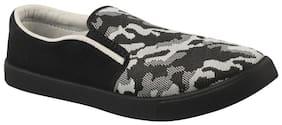Birde Black Printed Casual Shoes For Men
