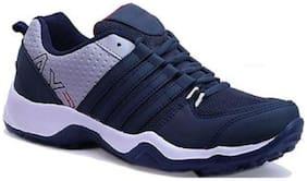 Birde Blue Canvas Sports Shoes For Men
