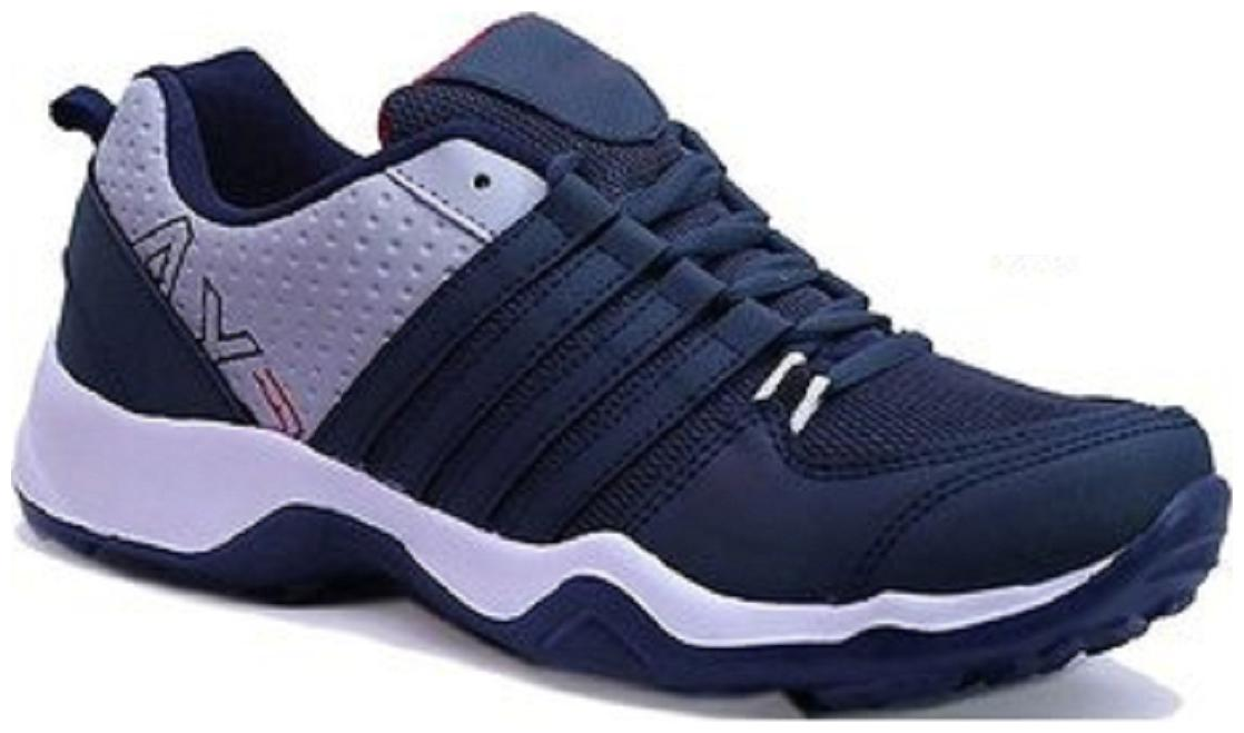 Birde Blue Canvas Sports Shoes For Men