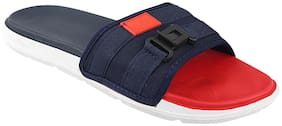 Birde Men Red & Blue Sliders - 1 Pair