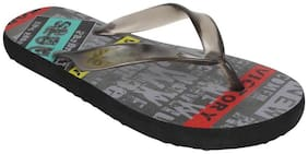 Imported Grey Rubber Printed Slippers For Men
