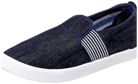 Birde Blue & White Stripped Loafers For Men