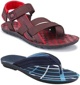 Birde Men Multi-Color Sandals - 2 Pair