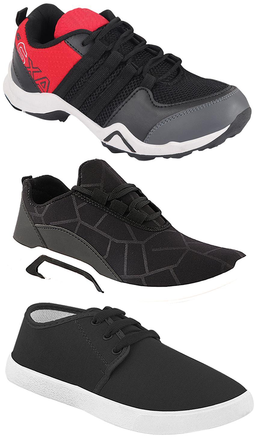 Birde Men Multi-Color Casual Shoes - BRD-300-BLK-349 AX-2