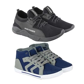 Men Multi-Color Casual Shoes ,Pack Of 2 Pair