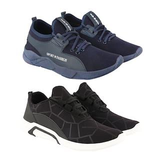 Birde Men Multi-Color Casual Shoes - BRD-342-300-BLK