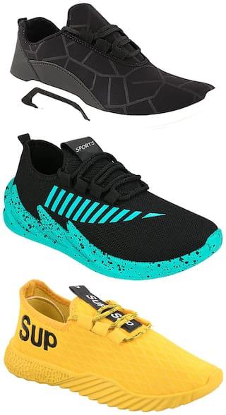 Birde Men Multi-Color Casual Shoes - BRD-300-BLK-324-SGRN-383