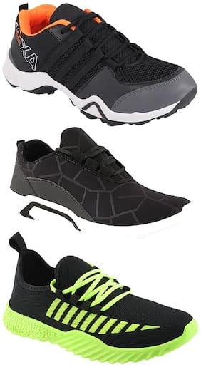 Men Multi-Color Casual Shoes ,Pack Of 3 Pair
