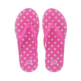 Imported Pink Rubber Slipper For Women