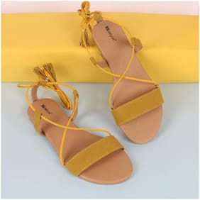 BK DREAM Women Yellow Sandals
