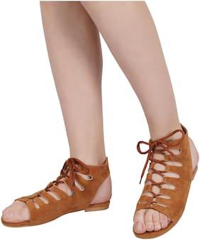 BK DREAM Women Brown Sandals