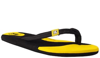 Black And Yellow Slippers