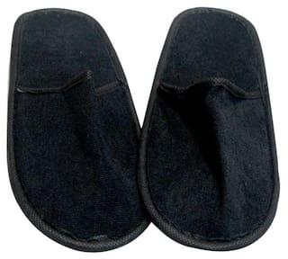 9e706db9eae7 Buy Black Bedroom Terry Cloth Slipper / Flip-Flops (Set of 2) Online ...