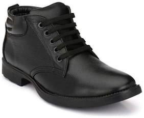 SIM STYLE Men Black Ankle Boots